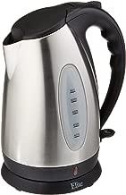 Elite Platinum 7050 EKT-7050 1.7 Liter BPA Free Stainless Steel Cordless Electric Kettle, 10-Cup,