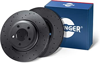 Rear Axle, 2 pcs set Anticorrosion Coating ROTINGER Brake Discs, RT 2915-GL//T6