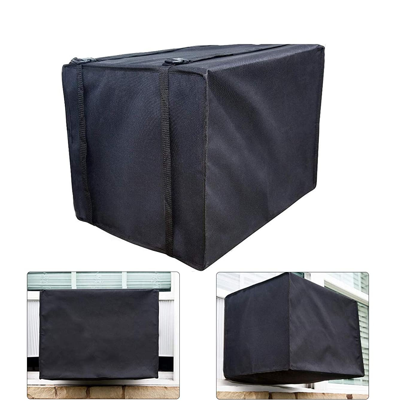 FLR Outdoor Air Conditioner Cover-Waterproof Dustproof Rectangular AC Defender Air-Conditioning Protector for Outdoor Window Black/14.8x20.6x15.6in