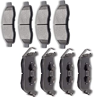 AUTOMUTO Ceramic Discs Brake Pads Kits Front Rear 8pcs Disc Brakes Pads Set fit for 2004 2005 2006 Infiniti QX56, 2005 2006 Nissan Armada, 2004 2005 2006 2007 Nissan Titan