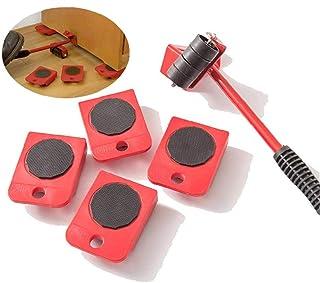 5pcs / Set Fácil Muebles Levantador Mover El Sistema De Herramienta De Muebles Deslizante Heavy Duty Muebles Rodillo Mover Hasta 150 Kg / 330 Libras Adecuados Para Los Sillones, Sofás Y Refrigerato