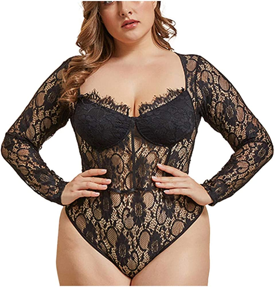 Plus-Size Lingerie Lace Sexy Plus New Orleans Mall Transparen Women Shipping included Size