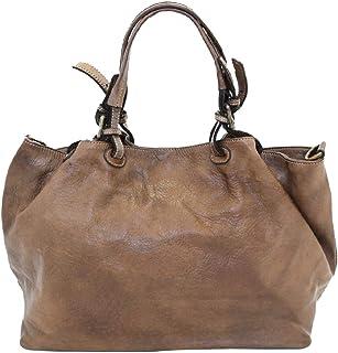 BZNA Bag Fee braun Lederfarben Italy Designer Damen Handtasche Schultertasche Tasche Calf Leather Shopper Neu