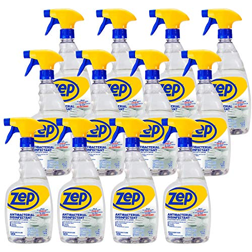 Zep Antibacterial Disinfectant Spray with Lemon 32 Ounce ZUBAC32 (Case of 12) EPA Approved to Kill SARS-COVID-2 in 60 Seconds