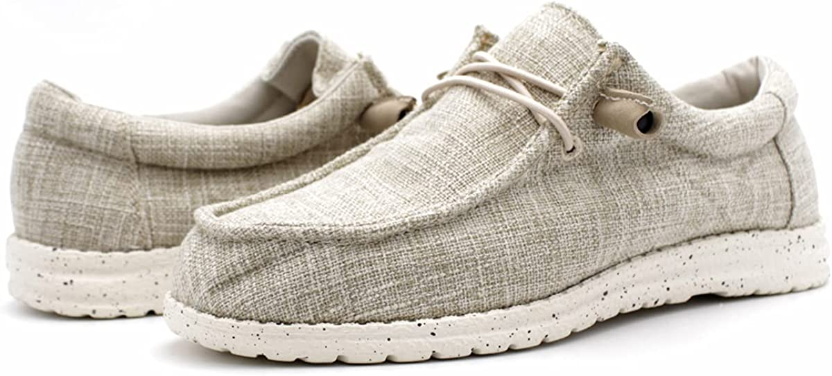 Womens Canvas Max 71% OFF Upper Fashion Khaki Slip Cash special price Loafers On