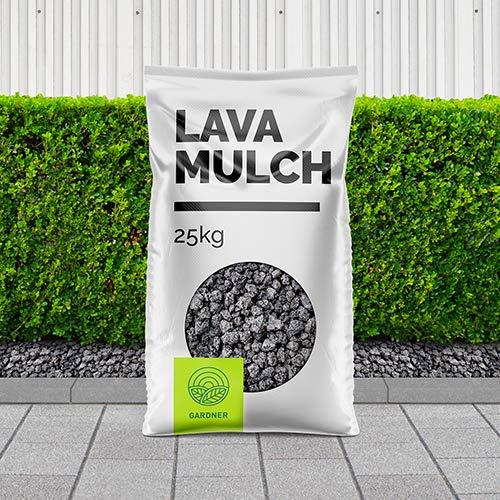 Lavamulch - Lavasteine schwarz für den Garten im praktischen BigBag 1000-5000 kg inkl. Versand (20 Liter)