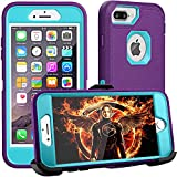 FOGEEK iPhone 8 Plus Case,iPhone 7 Plus Case,iPhone 6 Plus Case, [Dust-Proof] Belt-Clip Heavy Duty Kickstand Cover[Shockproof] PC+TPU for Apple iPhone 7 Plus,iPhone 6/6s Plus(Purple and Blue)