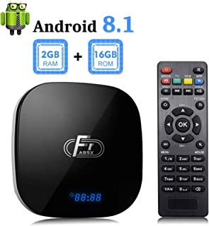 Android 8.1 TV Box, F1 TV Box Android 8.1 2GB RAM 16GB ROM Amlogic S905W Quad Core Media Player Support Ethernet 2.4Ghz WiFi 4K HDMI DLNA 3D Smart Streaming Media Player