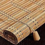 Estor de bambú,Persianas Enrollable de bambú Natural,Persiana de Bambú Para Interior,Cortina Opacas,Cortinas Privacidad Protección,Retro Decoración,Para Puertas/Ventanas/Balcones (70x100cm/28x39in)