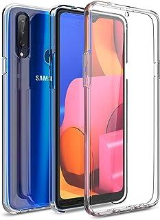 CE-LINK för Samsung Galaxy A20s fodral transparent 360 graders kristallklart fodral ultratunn smalt med integrerat skärmsk...