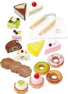 【ウッディプッディ直営限定品】はじめてのおままごと スウィーツセット 木製 セット 人気 ケーキ ドーナツ スィーツ 誕生日 プレゼント 収納ボックス
