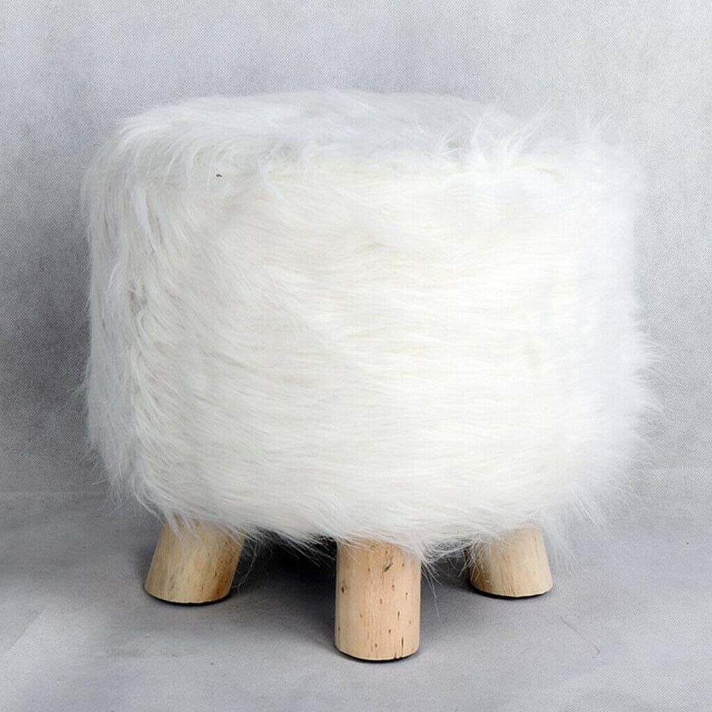 Slipcovers Popularity Round Ottoman Slipcover Footstool Super popular specialty store Fluffy Cover Chair