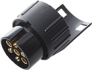 Qiilu 12V 7 Pin Elektro Anh/änger Stecker N-Typ Kunststoff 7 polig Verdrahtung Stecker Adapter Schwarz