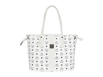 MCM Shopper Project Visetos Shopper Medium (White) Handbags