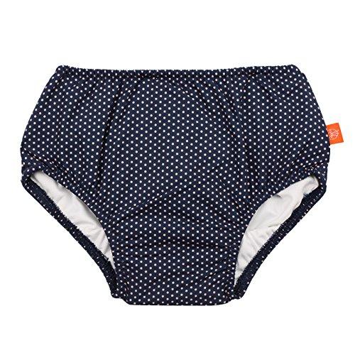 LÄSSIG Baby Schwimmwindel Badewindel wiederverwendbar waschbar Auslaufschutz UV-Schutz/Splash & Fun Baby Swim Diaper, Polka Dots, 6 Monate, blau