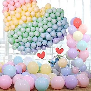 Mumoo Bear 100 pcs Pastel Balloons, 10 Inch Assorted Colours Macaron Latex Birthday Party Balloons for Kids Boys Girls Bir...