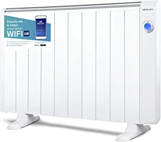 Orbegozo RRW 2000 - Emisor térmico bajo consumo Wi-Fi, 2000 W, pantalla digital LCD, programable, conexión inalámbrica mediante Orbegozo APP