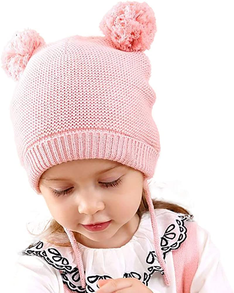 Juzzae Gorro de Invierno Bebe Gorros Punto Na/ñas Gorras para Bebes Ni/ño Bebe Ni/ñas Invierno Gorra Sombreros para Ni/ñas Sombrero de Beanie Babies