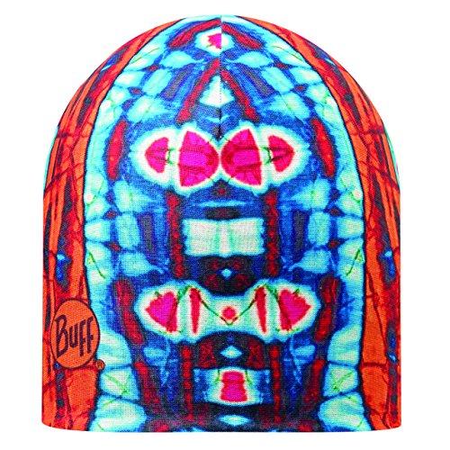 Buff Adulte Microfibre Sides Neon Bonnet réversible, Orange/Bleu Taille Unique 108913.204.10.00