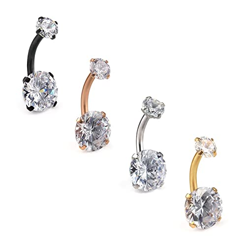 Diamond Belly Rings Amazon Com