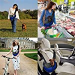 Pet Dog Cat Sling Carrier Bag Puppy Shoulder Carry Bag Hands Free Dog Papoose Carrier with Adjustable Shoulder Strap Pet Travel Carrier Tote Bag with Breathable Mesh Pouch for Outdoor Walking Subway 9