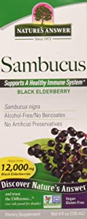 Nature's Answer Sambucus Dietary Supplement, Original For Daily Immune and Antioxidant Support | Made in the USA | Alcohol-Free, Gluten-Free & Vegan 4oz