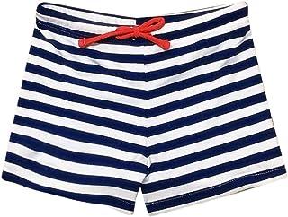 QinMM, Bañador para niño, pantalón Traje de baño Rayado elástico natación