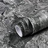 Gray Marble Paper Granite Peel and Stick Wallpaper Matte Self-Adhesive Removable Wallpaper Marble Contact Paper for Countertop Furniture Wall 15.8'×78.7' Thick Wallpaper Easy to Remove Waterproof