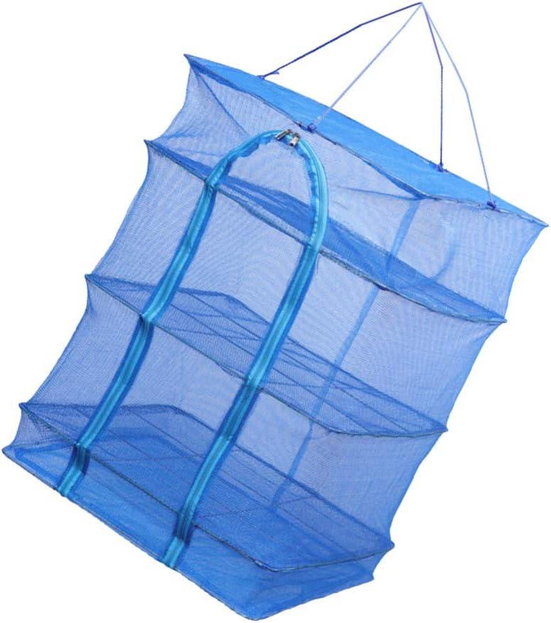 IMIKEYA 3 Time sale Layers Drying Under blast sales Net Fo Rack Folding Mesh Fish
