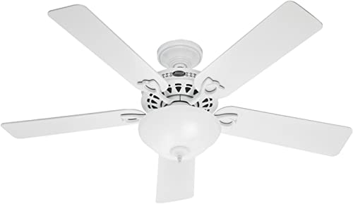 """discount Hunter popular Astoria Indoor Ceiling Fan with LED Light and Pull Chain Control, 52"""", White online / Light O sale"""