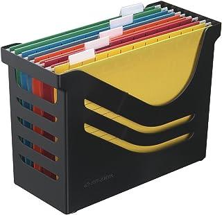 Boîte de Bureau avec 5 Dossiers Suspendus A4, Panier à Dossiers Suspendus, Noir, Jalema 2658026998, Re-Solution Office Box...