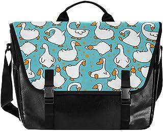 Lindo bolso de lona para hombre y mujer, diseño retro de ganso