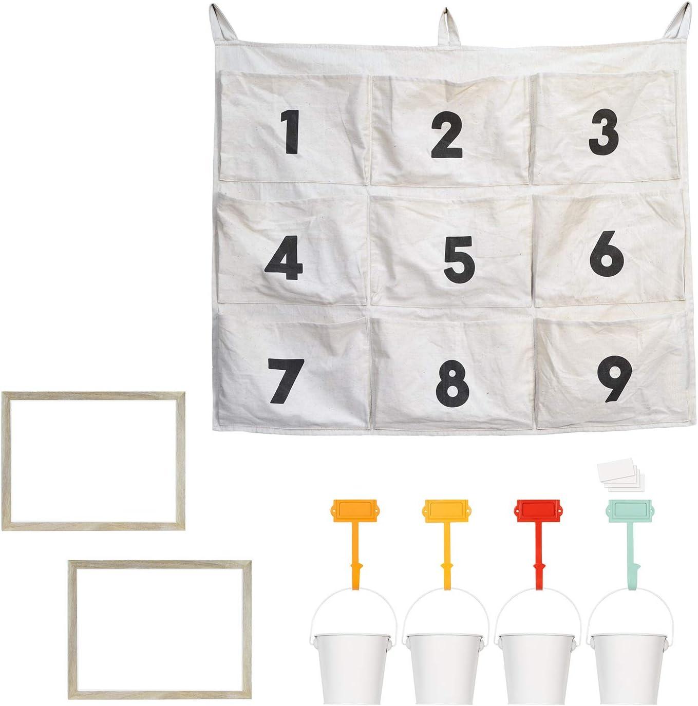 PRINZ Curate Kids Playroom Art Corner Organizer Set, Multi-4 Color Process