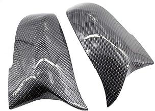 Los depósitos Espejo Retrovisor lateral espejo de ala cubierta del casquillo de fibra de carbono estilo Par Ajuste for BMW F32 F30 F31 F33 F36 DecoracióN De Coche (Color : Carbon fiber)