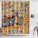 None brand American 66 Route Duschvorhang Badezimmer wasserdichte DuschvorhäNge Sexy MäDchen VorhäNge Im Badezimmer Bad Displaye-B180xH200cm