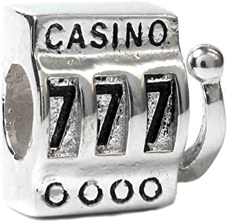 Queenberry Sterling Silver Slot Machine 777 European Bead Charm