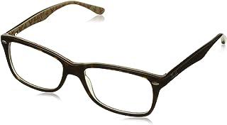 902104e1a2 Ray-Ban 0rx5228 No Polarization Square Prescription Eyewear Frame Top Dark  Havana on Beige 55