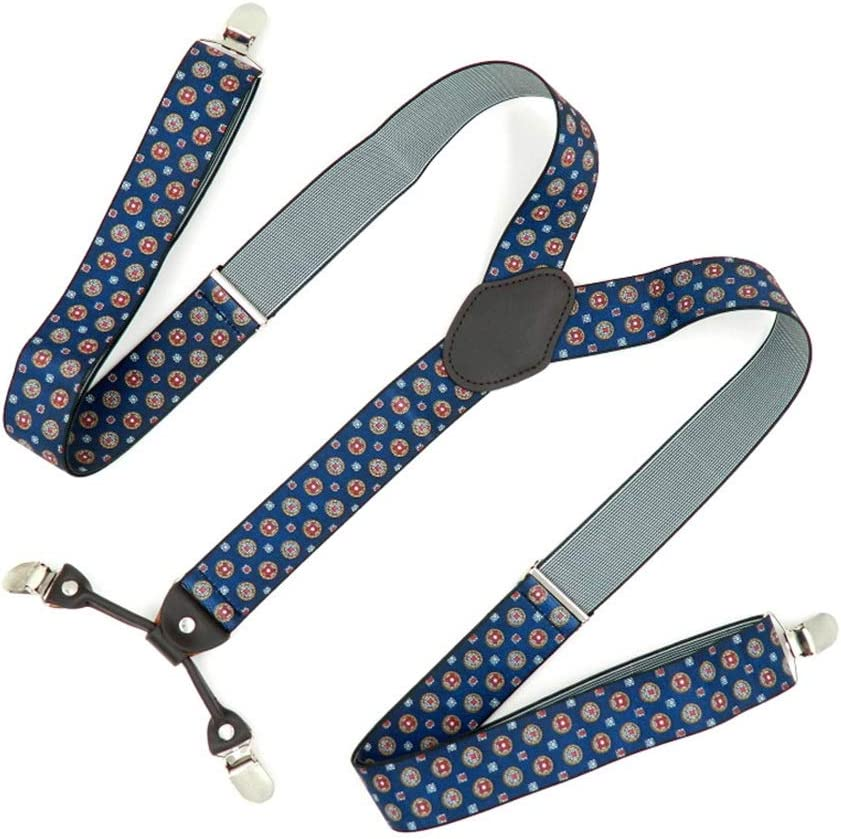 ZYDP Y Back Suspenders for Men, with Heavy 4 Duty Clips Wide Adjustable Elastic Braces for Casual&Fomal (Color : Man Straps)