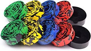 5 Pack Bar Tape Road Bike, Road Bike Handlebar Tape, Camo Bicycle Anti-slip&damping Rubber Cushion, Cycling Wrap Padded For Ultra-light And Durable Quality Absorbs Shock And Vibration During Cycling
