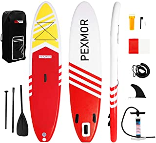 FCH PEXMOR Inflatable Paddle Boards Stand Up 10.5'x30 x6 ISUP Surf Control Non-Slip Deck Standing Boat with Carry Bag, Flo...