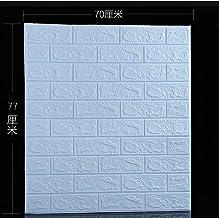 finebrand 3d-brick Wall Sticker Klussen Wallpaper Schuim Xpe Lichtblauw 70x77cm Waterdicht Voor Tv Achtergrond Kinderkamer...