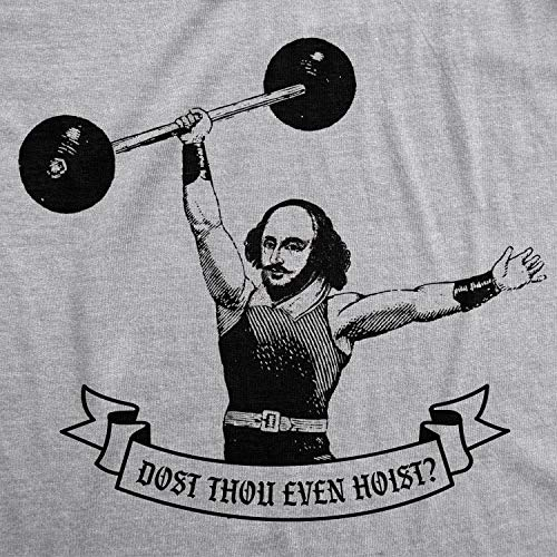 Crazy Dog T-Shirts Mens Fitness Tank Dost Thou Even Hoist Tanktop Funny Workout Gym Shirt (Heather Grey) - 3XL
