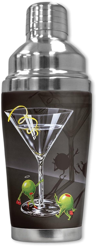 Mugzie 922-sha Michael Godard  Er Er Er & Sie Teufel  Cocktail Shaker mit isolierter Neoprenanzug, 16 oz, schwarz B009OVLR6M ff6fe5