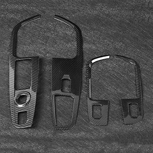Negro 4 Uds interruptor de elevación de vidrio de coche modificación de marco interruptor de elevación de ventana interruptor de fibra de carbono accesorios de coche