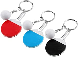 NATFUR 3pcs Mixed Key Ring Racket Sports Souvenir Ornaments Key Chain Charms Gift Key-Chain for Women Cute for Men Perfect Elegant Fine Beauteous