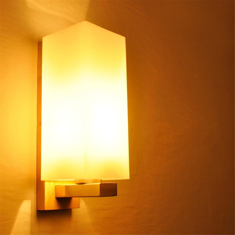 StiefelU LED Wandleuchte nach oben und unten Wandleuchten Massivholz Bett im Schlafzimmer, LED-Wandleuchte, 280 x 100 x 120 mm