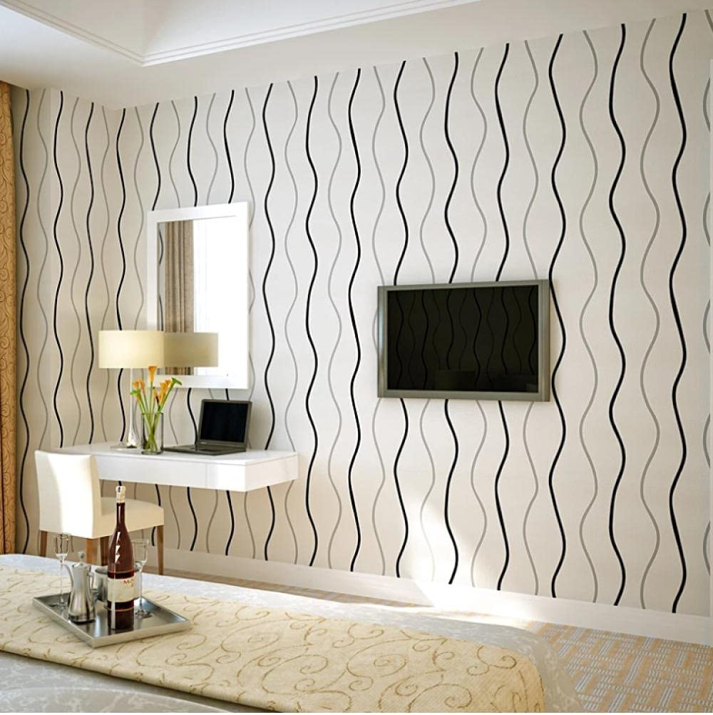 LENGXDR Wallpaper 3D Wavy Striped Non Time sale roll Mode Paper Wall Ranking TOP10 Woven