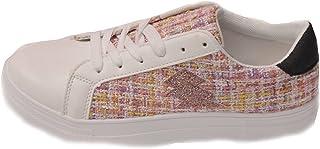 Générique Basket Femme A Lacets - Blanc/Pink