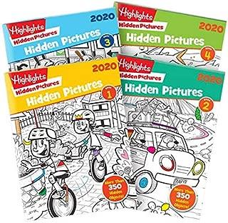 Highlights Hidden Pictures 2020 4-Book Set