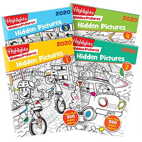 Highlights Hidden Pictures 2020 4 libros ...